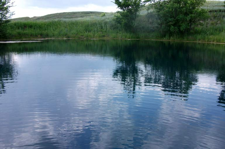 Голубое озеро около Самары