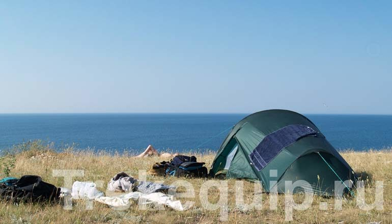 С палаткой на Тарханкуте